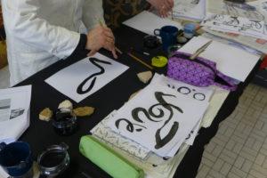 Yves Dimier - stage calligraphie contemporaine - La Poche lieu d'art